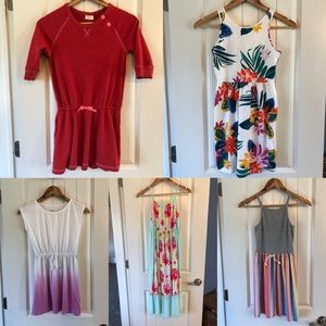 Lot of 5 youth girls dresses